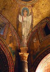 Basilica of Santa Prassede, Zeno Chapel mosaic caryatid