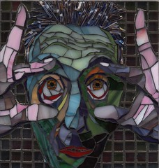 The Morning After (Gila Mosaics n'stuff) Tags: portrait male art texture glass eyes artist expression mosaic ciel 2010 awardwinning gilamosaics