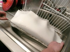 Ice from the fridge