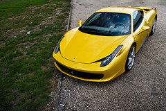 458 Italia ([ JR ]) Tags: car sport yellow jaune canon eos italia bordeaux jr ferrari exotic gelb supercar maranello 458 550d fialeix