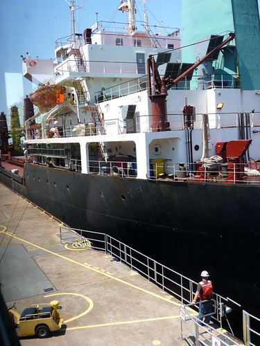 Ship going through the Locks