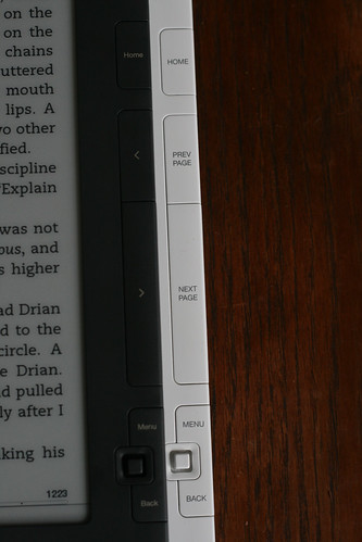 Amazon changed the buttons on the second gen Kindle DX