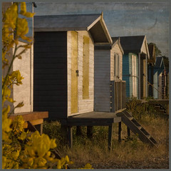 Beach Huts - Whitstable, Kent (kentishmayde) Tags: uk texture beach kent pebbles beachhuts whitstable seasalter