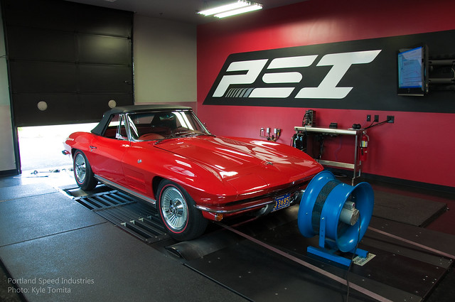 1964 Corvette on dyno at PSI