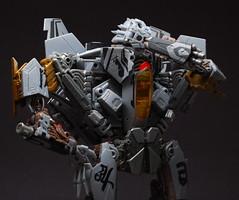 Facepalm (GogDog) Tags: movie toy robot class transformers leader f22 mecha facepalm rotf starsream revengeofthefallen