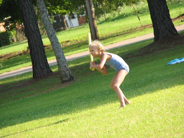 elizabeth's batting stance