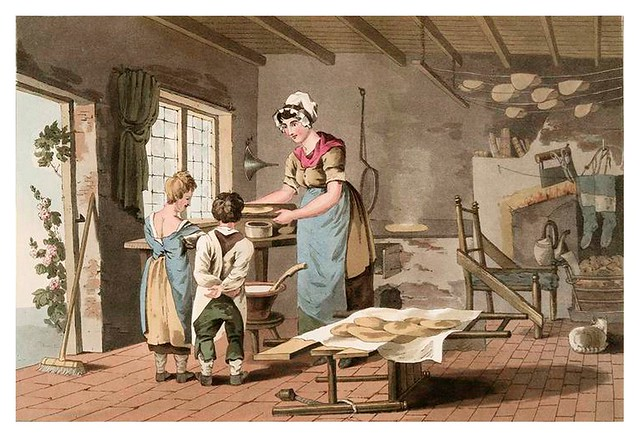 018-Mujer haciendo tortas de avena-The costume of Yorkshire...1814- George Walker