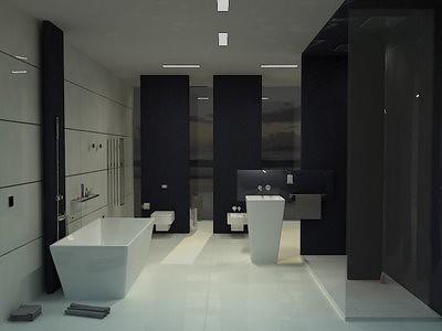 fotos de banheiros modernos