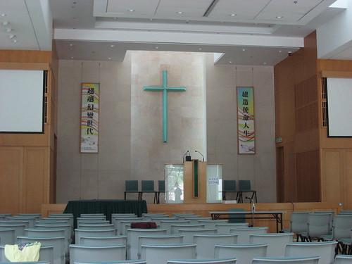 教会讲台背景墙装修