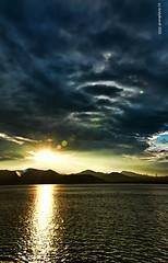 Strangest Sunset (Andy Brandl (PhotonMix)) Tags: sunset mountains water nopeople ufo hangzhou hdr zhejiang sfchronicle paradiseonearth hangzhouchina southeastchina 96hrs hangzhouzhejiang ctrippic photonmix gettyimageschinaq1 andybrandl
