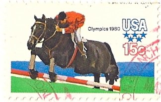 15 cent Olympic 1980 stamps