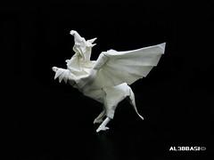 Tenma (Al3bbasi.) Tags: origami pegasus fantasy tenma mythical kamiyasatoshi al3bbasi