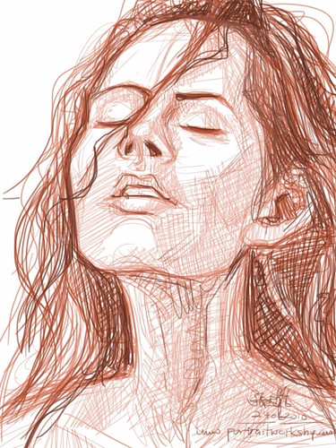 digital sketch studies of Megan Fox 2c on iPad SketchBook Pro