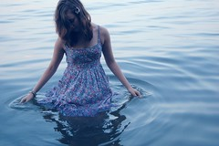 (velvetveins) Tags: jenna motion flower water girl female swimming nikon dress floating megan teen stanton