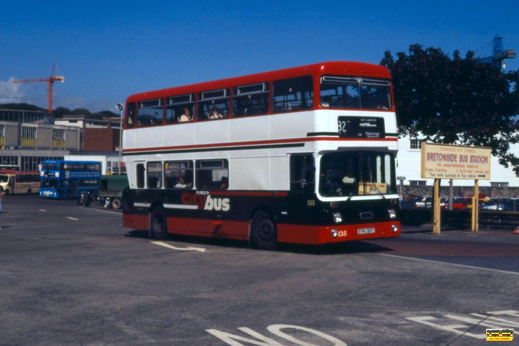 PCB Leyland Atlantean AN 135 - Ply., Breton Side BS - 08-07-1990