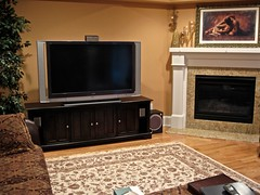 "Home Theater (Brigantine NJ) -  60"" LCD, equipment in cabinet, surround system & custom remote"