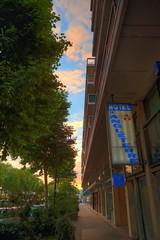 France - Rouen - Hotel d'Angleterre (Stewart Leiwakabessy) Tags: trees houses sunset people france building tree buildings hotel neon rouen stewart bushes hdr jeannedarc leiwakabessy stewartleiwakabessy photomatix joanneofarc hoteldangleterre