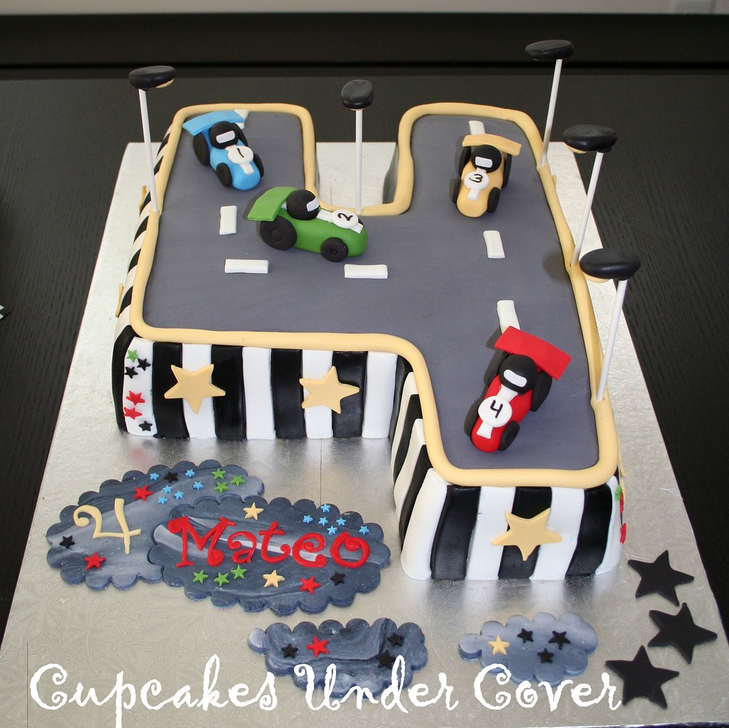 Car Theme Inspired Birthday Cake Cupcakes Under Cover Tags Road Street Red White