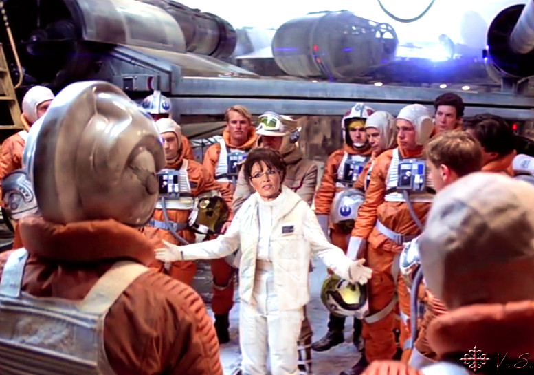 Leia-Palin as Rogue Leader with Pilots