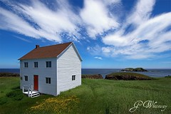 Summer Home (gwhiteway) Tags: ocean flowers summer house canada green grass clouds canon newfoundland bluesky 7d elliston summerhome discoverytrail flickraward cans2s platinumpeaceaward mygearandmepremium mygearandmebronze mygearandmesilver mygearandmegold