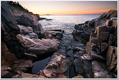 Otter Cliffs Sunrise (moe chen) Tags: ocean park bar sunrise island harbor desert maine sigma cliffs mount national seal otter moe 1020mm acadia chen mdi ifaphotographerfallsintheoceanandth
