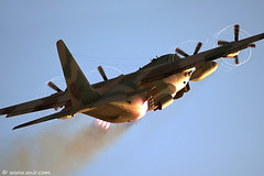 C-130 Hercules JATO Israel Air Force (xnir) Tags: plane canon airplane photography eos israel fly flying is photographer force aircraft aviation military air flight aeroplane rhino lockheed quick departure  hercules steep c130 nir  jato 100400l benyosef 100400 50d  karnaf    xnir   wwwxnircom photoxnirgmailcom