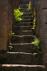 Stone Stairs, Noyers-sur-Serein (Erik Pronske) Tags: france building rock stone stairs weeds noyerssurserein