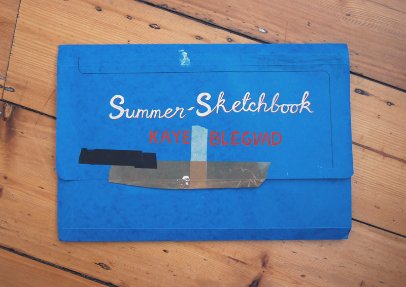 summer sketchbook folder
