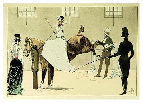 025-En el picadero de Pellier 1836-Le chic à cheval histoire pittoresque de l'équitation 1891- Louis Vallet