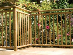 Contemporary Round Spindle Softwood Deck (Richard Burbidge) Tags: decks decking deckrailing deckboards wooddecking gardendecking richardburbidge deckingbalustrade deckingrails deckingbalustrades