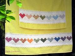 Atendendo à pedidos: passo-a-passo do Seminole Coração ♥ (Carla Cordeiro) Tags: toalha seminole patchwork jogo pap passoapasso jogodetoalhas seminolecoração