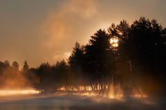 Lights Please (Latyrx) Tags: morning light shadow sun mist lake nature water misty fog photoshop sunrise suomi finland photography rising lights early photo power graphic stock perspective atmosphere clear photograph rays finnish sell mikko 2010 lightrays lightstreaks resize latyrx nikond90 nikkor70300mmvr mikkolagerstedt