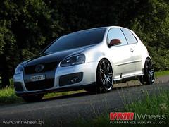 VMR Wheels - V708 Blue Anthrazit - Volkswagen Golf V GTI (VMR Wheels Switzerland) Tags: blue black vw silver golf switzerland wheels v hyper gti 19 onyx matte vmr gunmetal concepts zoll alufelgen anthrazit felgen heiniger v708