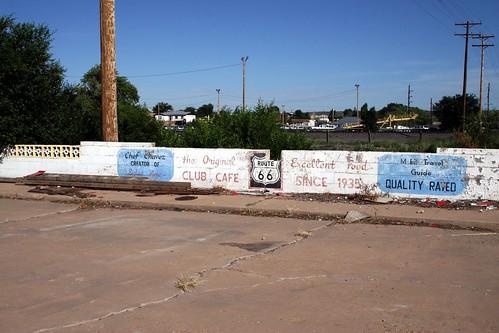 club café wall advertising
