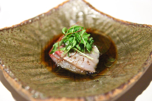 Sashimi of Kingfish with Blackbean & Orange