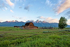 John Moulton Barn - Grand Tetons (Ron Mead) Tags: wyoming grandtetons hdr moultonbarn
