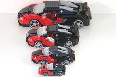 Babushka Veyron 16.4 (lego911) Tags: auto scale car model lego 164 minifig bugatti supercar challenge babushka sportscar racer lugnuts veyron moc sizematters miniland