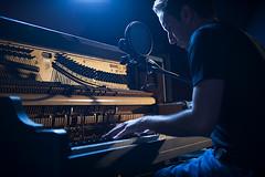 196 (nickb_rock) Tags: lighting blue music color beauty yellow project nikon dish nick piano micr
