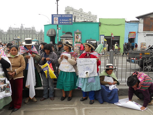 ANFASEP Demonstration in Front of the Palacio de Justicia