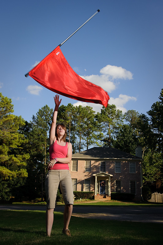Day 283- Flag Girl