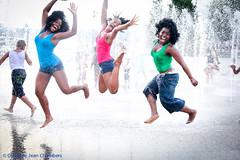 (vestitoverde (christine jean chambers)) Tags: nyc portrait fun actors dancers centralpark harlem singers groupphotos playinginthesprinklers aminarobinson photobychristinejeanchambers maechiaharanwa teyonahparris femalegroupportrait