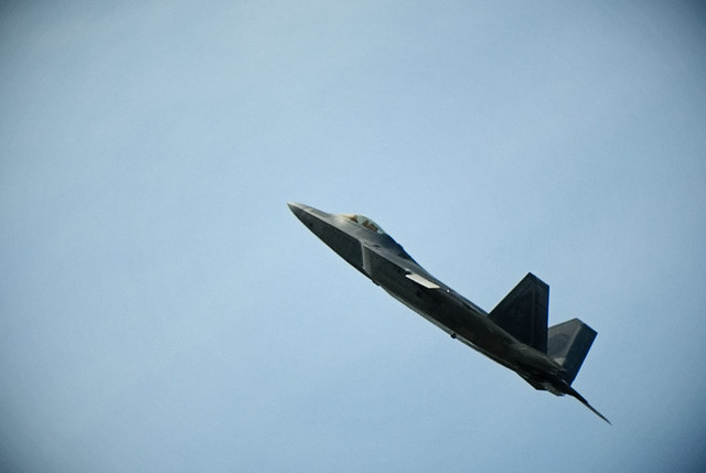 F22 display at Farnborough