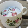 How to make a mosaic pot out of vintage rose china