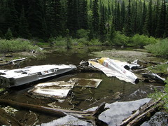 Plane wreckage off of Tull Canyon trail.