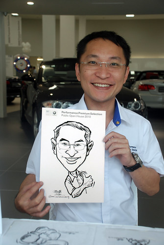 Caricature live sketching for Performance Premium Selection BMW - Day 3 - 5