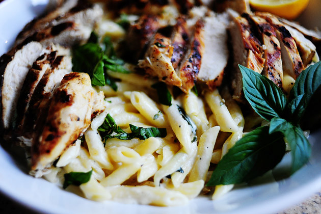 Grilled Chicken with Lemon Basil Pasta | The Pioneer Woman ...