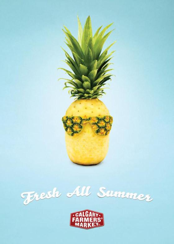 publicidad de Fruta fresca para el verano