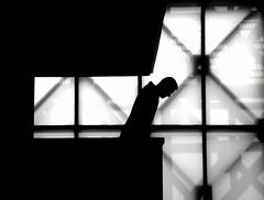 bow down mister (bostankorkulugu) Tags: light blackandwhite bw white black art window monochrome silhouette museum architecture modern turkey blackwhite graphics alone cross geometry turkiye istanbul x bow bostanci bostan korkut tasos graphism santral santralistanbul bostankorkulugu