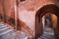 DZA-Ben Isguen-0801-04-v1 (anthonyasael) Tags: africa old people color history horizontal wall architecture stairs outside one algeria ancient stair mediterranean arch exterior image ben outdoor no country north poor steps arc entrance culture places nobody structure historic stairway doorway arab staircase maghreb and weathered absent curve curved past staircases entry built dilapidated islamic rundown olden absence condition arched ghardaia isguen