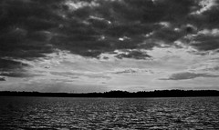 approaching storms (bdaryle) Tags: sky blackandwhite bw seascape nature water clouds sony bn sunrays timeslikethese brandondaryle bdaryle imagesbybrandon